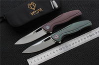 Free shipping, VESPA F7 Folding knife bearing Blade: M390(Sati...