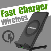 10W Quick Charging Docks с охлаждающим вентилятором Qi Wireless Fast Charger 5V2A Dual-Coils для Samsung S8 Note 8 Iphone x 8 с поддержкой Qi SmartPhones