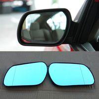 Specchietto retrovisore per auto HD Grandangolare Iperbolico per frecce a LED con frecce a specchio blu per Mazda 3