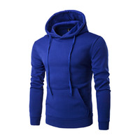 Pure Cotton Solid Men' s Hooded Fleece Hoodie sweatshirt...
