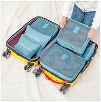 6 قطع حقيبة تخزين السفر مجموعة للملابس مرتبة المنظم الحقيبة حقيبة المنزل خزانة مقسم الحاويات المنظم