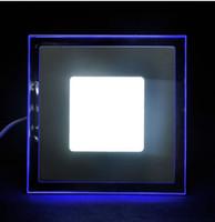 AC 85-265 V Kare LED Panel Işık Downlight 10 W 15 W 20 W Soğuk Beyaz Sıcak Beyaz Işık La luz del paneli