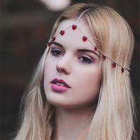 2016 Real Images Headband hair accessories chain headwear Sh...