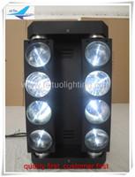 (4lot / CASE) dmx steuerung rgbw led strahl bewegt 8x10 watt spinne moving head licht mit flightcase