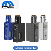 Authentique GeekVape Athena Squonk Kit avec Postless Athena RDA 6.5ml Bouteille Squonk 100% Original Geek Vape Mechanical Combo KIt
