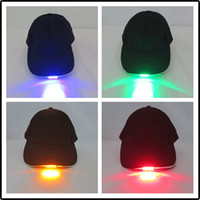 Vente chaude Nouveau Design LED Lumière Chapeaux Parti Chapeaux Garçons et Grils Casquettes Baseball Caps Mode Lumineux Différentes Couleurs Réglage Taille Navire Gratuit