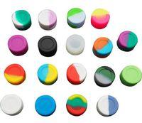 Günstigstes überhaupt! Reiche farbe 2 ml 3 ml 5 ml 7 ml 11 ml runde Antihaft-silikon Jar Tupfen Wachs Container Für Wachs Silikon jars tupfen silikonbehälter