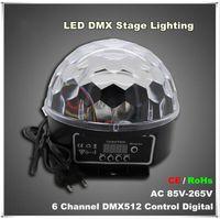 القادمون الجدد 6 قناة DMX512 التحكم الرقمية LED RGB كريستال سحر الكرة تأثير الضوء DMX ديسكو DJ إضاءة المرحلة