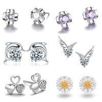 La princesse couronne boucles d'oreilles en argent Sterling S925 boucle d'oreille femme anti allergie Saint-Valentin cadeau d'envoyer un cadeau à sa petite amie