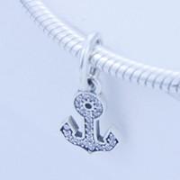 Authentic 925 sterling silver beads Símbolo de Estabilidade com Clear Cz Dangle Se Encaixa para Pandora Jóias Pulseiras Colar 1 pc / lote
