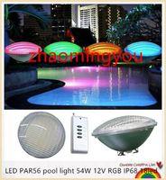 Сид par56 бассейн свет 54 Вт 12В для RGB IP68 Сид 18led светодиодные плавательный бассейн свет открытый освещение подводные пруд огни светодиодные бассейна CE и RoHS