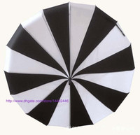 20шт NEW Креативный дизайн черный и белый полосатый гольф Зонт с длинной ручкой Straight Пагода зонтик свободный корабль