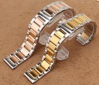 Высокое качество нержавеющей стали ремешок для часов 18 мм 20 мм 22 мм 24 мм серебро и розовое золото красивые часы ремешок ремни браслет для мужчин бесплатно shipppin