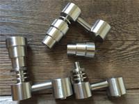 Männlich / weiblich 4 in 1 Gr2 Domeless Titan Banger Nails Funktionskonzentrat Zubehör für Glasbongs Klopfregeln Hohe Qualität