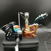 Die neueste E Digital Dab Nail Kit Digital Essential Oil Vaporizer Heizung Coil PID mit Ölplattformen Electric Dab Rigs Glas Wasserbongs