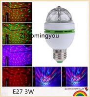 16 цветов Изменение E27 RGB светодиодные лампы 3W AC 85-265V 110V 220V Auto Вращающиеся свет этапа диско DJ Club Party PUB светодиодные лампы