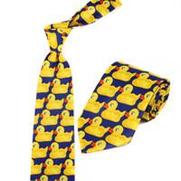 노란색 오리 목 넥타이 145 * 8cm 바니 Ducky 만화 넥타이 크리스마스 선물에 대 한 무료 페덱스 UPS TNT