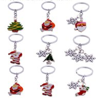 New Fashion Lovely Snow Santa Claus Christmas Keychains for ...
