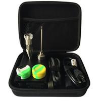 Il kit per unghie digitale DHL free E contiene 6 in 1 Ti / Qtz Hybrid nail fit piatto 10mm / 16mm / 20mm bobina riscaldante per bong
