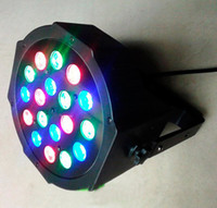 18x 3W LED Par Light 54W RGB Par 64 DMX 512 Этап освещения Лампа Лампада Бар KTV DJ Effect оборудование на Рождество Новый год партии огни CE