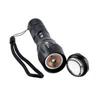 E17 CREE XM-L T6 2000Lume Cree LED Torch Zoomable Cree LED Flashlight Torch luce per 3xAAA o 1x18650