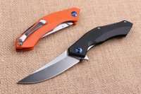 Cuchillo plegable de calidad superior Rusia Shirogorov Flipper 440C 58HRC Hoja de satén G10 Mango EDC Cuchillo plegable de bolsillo Cuchillos de regalo Liner Lock