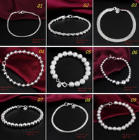 wholesale fashion 925 sterling silver jewelry Chain bracelet...