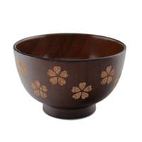 Utensili da cucina di legno di stile giapponese delle stoviglie sane delle stoviglie di legno dipinto a mano caldo della ciliegia / foglia Trasporto libero