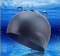 orejeras de silicona material de alta calidad natación temporada de verano del casquillo unisex swimg sombreros Pooll para los hombres y de látex mujer de natación sombreros