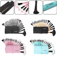 Vander Pro 24Pcs Colors Makeup Brushes Set Travel Facial Bea...