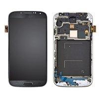 أسود شاشة LCD تعمل باللمس محول الأرقام الشاشة مع الإطار لسامسونج غالاكسي S4 i9500