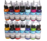 14 couleurs encre de tatouage ensemble pigments maquillage permanent 30ml encre de tatouage couleur cosmétique pour la lèvre pour les sourcils eyeliner