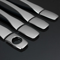 Audew Stainless Steel Trim Chrome Door Handle Cover Auto Acc...