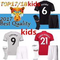 UNITED 2017 2018 kids POGBA Man soccer jerseys 17 18 footbal...