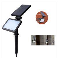 LED Rasenleuchte Outdoor Solar Power 48 LEDs Wandstrahler Garten Straßenlampe Landschaftsstrahler