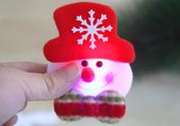 크리스마스 장식 크리스마스 플래시 천으로 아트 브로치 크리스마스 축하 산타 클로스 3.5inch 무료 배송 BP001