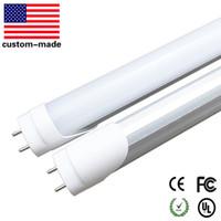 튜브 라이트 T8 LED 4피트 20W LED 형광 램프는 빛 튜브 1,200mm 1.2M 화이트 6000K AC95-264V 무료 배송 교체