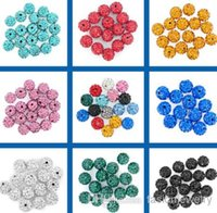 100pcs / lot meilleur fasion 10mm mixte multi couleur boule Crystal Perle Bracelet Collier Perles.Hot nouvelles perles Lot! Strass DIY entretient