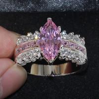 Victoria Wieck Marquise Cut Jewellery Pink Sapphire Simulated Diamond Zirkonia 925 Sterling Silber Verlobungsringe Sz 5-10