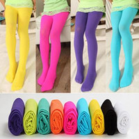 New Girls Tights Pantyhose Leggings Stockings Opaque Colour ...