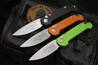 YDC Bıçaklar LUDT Otomatik Klasör Stonewash D2 Bırak Noktası Bıçak Düğmesi Tek Eylem 3 Renkler Öğütülmüş Alüminyum Kolu Katlanır EDC Bıçak