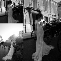 Livraison Gratuite Inbal Dror Vintage Dentelle À Manches Longues Robe De Mariée Nouvelle Arrivée Haute Couture Formal Dream Robe De Mariée
