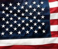 Bandeira americana - 3X5 ft higt Nylon de qualidade bordado estrelas costuradas grommets de latão resistentes. Bandeira de jardim dos EUA Banner