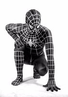 High quality black spiderman costume spider- man suit adult s...
