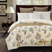Toptan-1 Adet Pamuk güzel kuş yatak örtüsü yorgan / yaz Yorgan Yorgan / 150x200cm ve 200x230cm pamuk yatak örtüsü