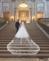 جديد حار الأزياء خمر 1T زين حافة يزين مع مشط ليفوري الزفاف الأبيض حجاب كاتدرائية الحجاب الزفاف ثلاثة أمتار طويلة