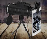 40X60 de Alta Potência HD Monocular Telescópio Ao Ar Livre Luz Fraca Visão Noturna Pode Tirar Fotos Telescópio