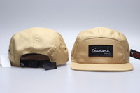 23Colors Diamond 5 Panel Hats Flat Brim Baseball Cap Canvas ...