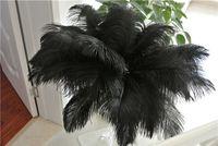 50 pcs preto Pena de Avestruz Plume para o Casamento central de natal pena de casamento casa festiva decoração da mesa de festa fornecimento