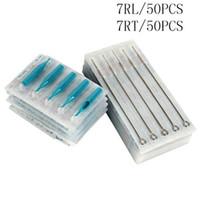 7RL + 7RT Иглы для татуировок с татуировочными трубками Смешанные стерильные иглы для татуировок и одноразовые наконечники для каждого размера 50 шт. Для бесплатной доставки